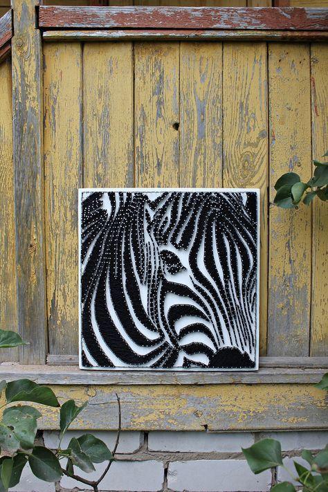 String art Zebra