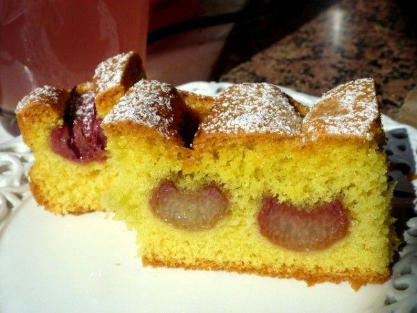 Banalne ciasto, z rabarbarem - Takie tam moje pomysły