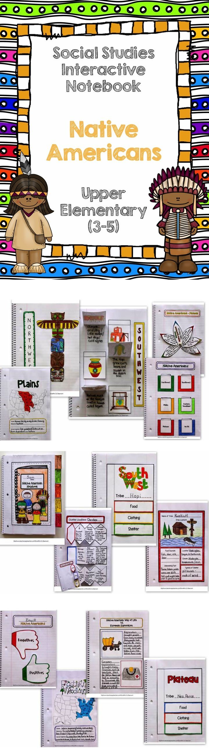 These interactive pages cover Native Americans. (Grades 3-5) There are interactive pages for each region, along with templates for individual tribes you may be studying.  The templates are set up to be used with any tribe of Native Americans. $