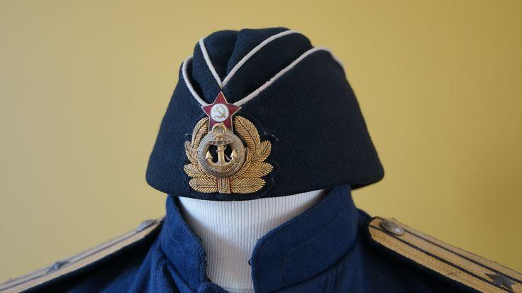 My WW2 soviet submarine Officer overseas field cap.
