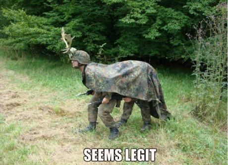 Seems legit. HAHAHAHA This reminds me of the dumb ways to die video. Dress up like a moose during hunting season.