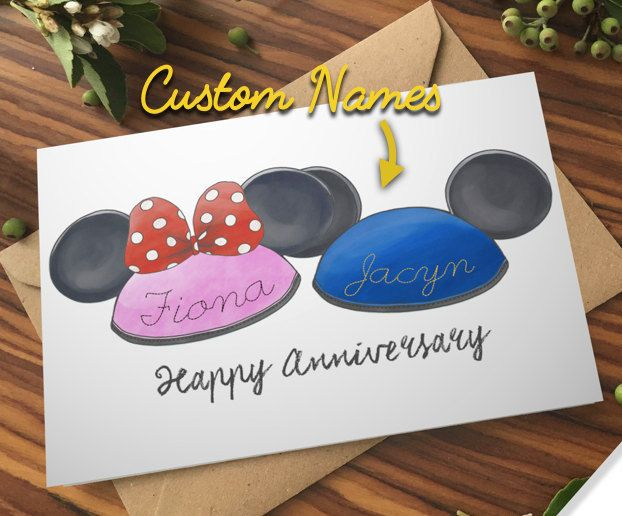 DISNEYLAND COUPLE HAT Card with Custom stitch names! Disney Ears Anniversary Wedding Mickey Mouse Minnie Anniversary bow gay lesbian love by POPxCOUCHA on Etsy  Disney Pixar Space Cute Couple Anniversary Birthday Card Gift Present Robot Art Poster WallE Eve Wall E Movie Art Watercolor Space Dance Incredibles Up Quote Finding Dory Nemo Toy Story Galaxy Cute Kawaii findingnemo squirt turtle animation art poster pin print marlin mine disneyland disneyworld mickey mickeymouse hat ears