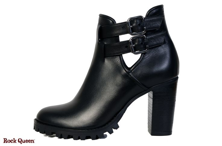 www.rockqueen.shoes https://www.facebook.com/rqshoes #RQ_012  #Rock_Queen #rock #queen #star #shoes #handmade #handcraft #greece #ankle #boots #leather #quality #black #heel #woman #cut_out #fashion #collection #metal #rabber #truck #truck_sole