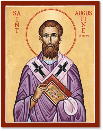 St. Augustine's complete conversion has been an inspiration to many who struggle with a particular vice or habit they long to break. Leaving a  life of sin, and becoming very devout, he in time was made the bishop of Hippo in north Africa. He is considered the patron saint of brewers, printers, theologians, sore eyes, and a number of cities and dioceses.