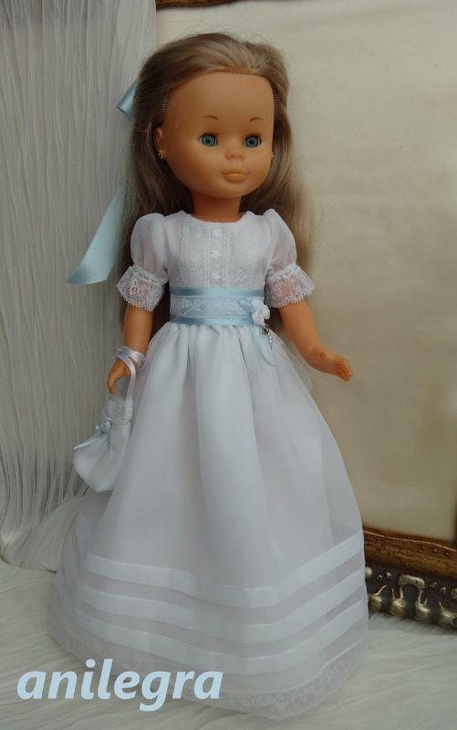 Bueno , pues abrimos la temporada con un vestido de comunión al más puro estilo tradicional   Blanco , manguita farol , con lorzas en ...