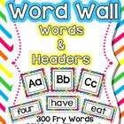 Is your classrooom a Print-Rich Enviornment?  If not, these Word Wall Words will do the trick!  Included in this unit is:  * Rainbow Themed Word Wa...