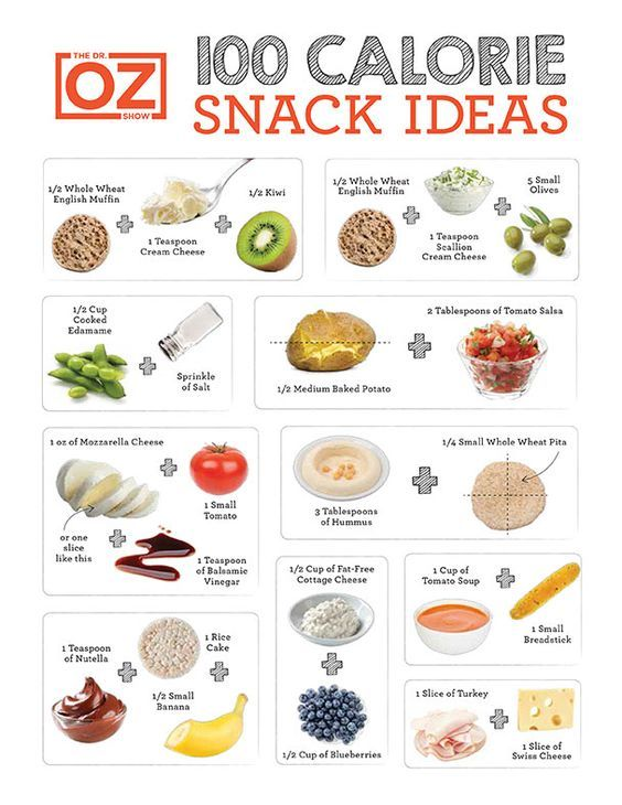 Stay full until mealtime with these satisfying 100-calorie snack options.