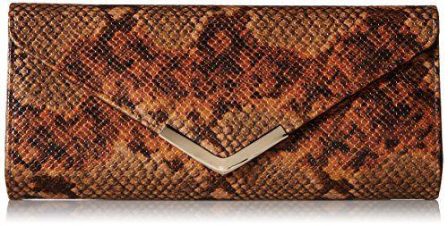 Aldo Gallington Baguette Clutch, Rust, One Size