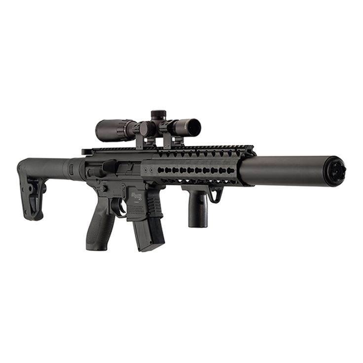 Sig Sauer MCX Air Rifle Black .177 Pellet Fitted with Sig Sauer 1-4x24 Sig Sauer Scope with Mil Dot