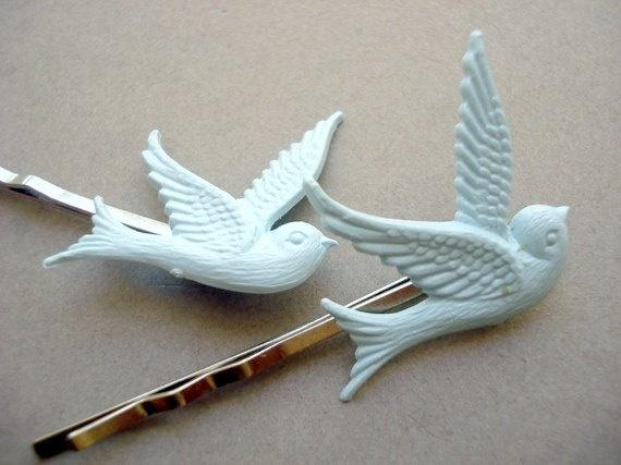 Vintage Bluebird hairpins