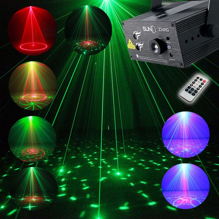 RGB a todo Color Láser Etapa Proyector de Luz 3 W LED Azul Efecto de etapa de Iluminación de DJ Disco Party KTV Con Mando A Distancia Control