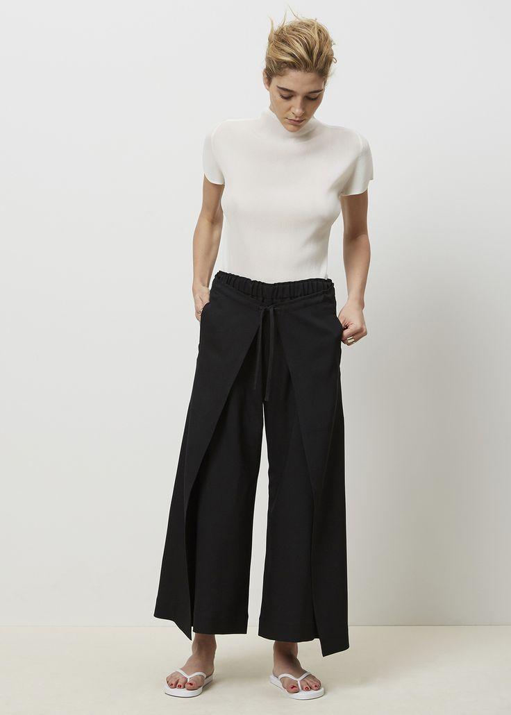 Issey Miyake Split Tie Front Pant (Black)
