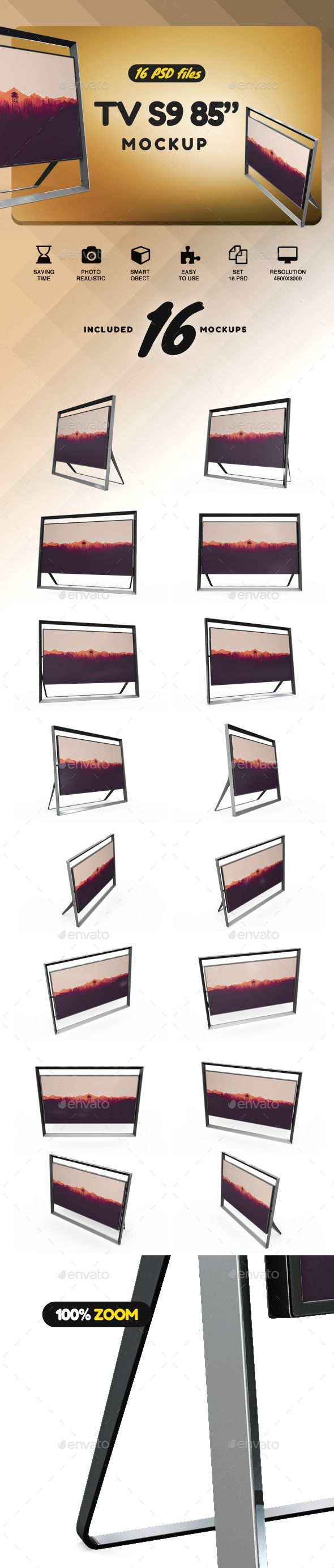 "85"" Smart Tv #Mockup - TV Displays"
