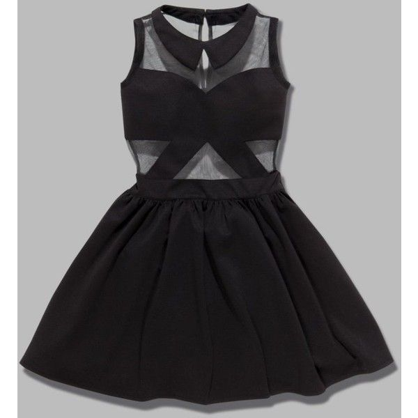 Tulisa TFB Mesh Panel Skater Dress - would be great with some gold jewelry!