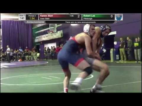 Kanen Storr (Iowa State) vs Robert Lee (Pittsburgh) - Midlands Wrestling tournament