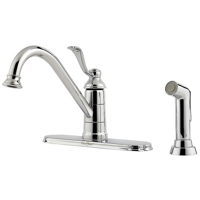 Pfister Portland Series Kitchen Faucet With Spray Single Handle On