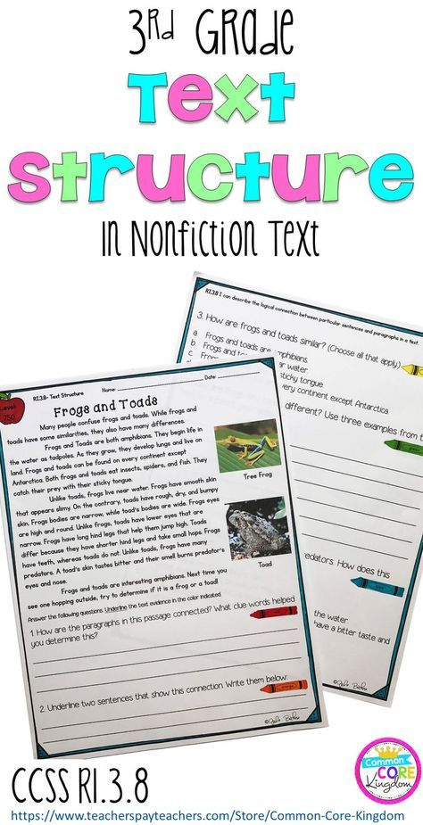 Are you looking for a way to teach your 3rd graders about nonfiction text structure? This package of close reading passages will help your third graders understand the connection between sentences and paragraphs in a text including compare and contrast, cause and effect, and sequence. Aligns to Common Core State Standard RI.3.8.