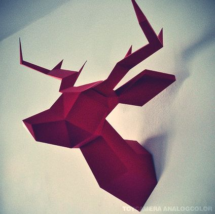 Reindeer Geometric Deer Heads