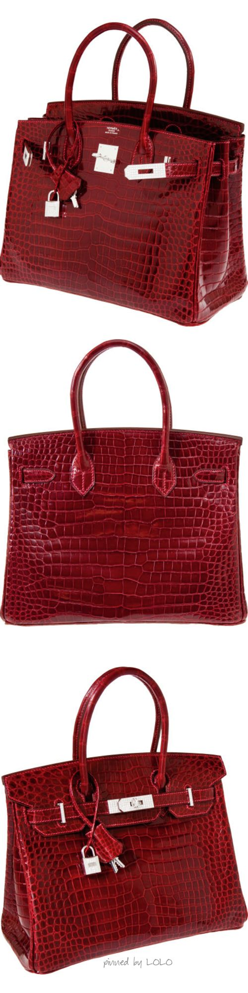 Billionaire Club / karen cox. The Glamorous Life.  Hermes Crocodile Birkin with White Gold & Diamond Hardware