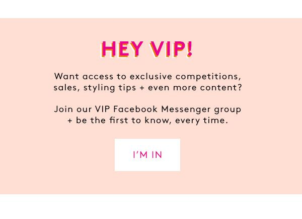 Join Our VIP Facebook Messenger Group + Be The First To Know
