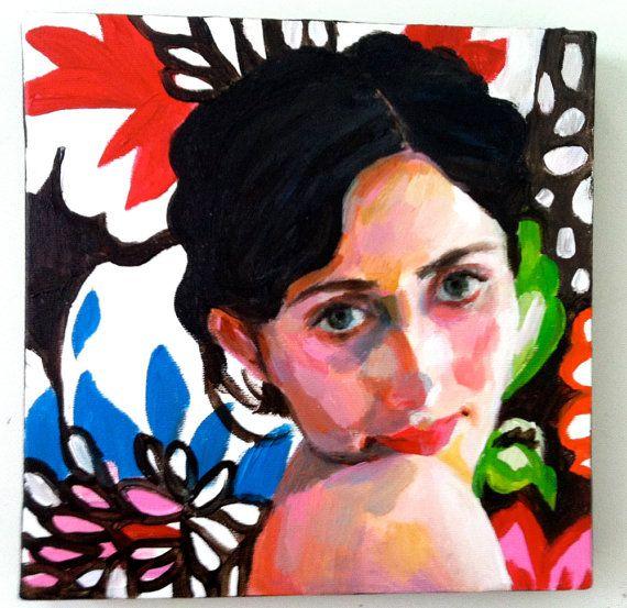 Rimma / Original acrylic painting / Home Decor / wall art