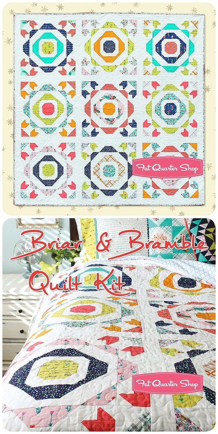 best blogger quilt patterns we love images on pinterest - quilt kit includes the briar  bramble quilt pattern by amy gibson