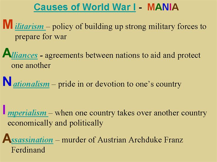 an introduction to the causes of world war one World war i was a defining event in world history in august 1914 europe tumbled into a war that would ravage the continent and shape the next century.