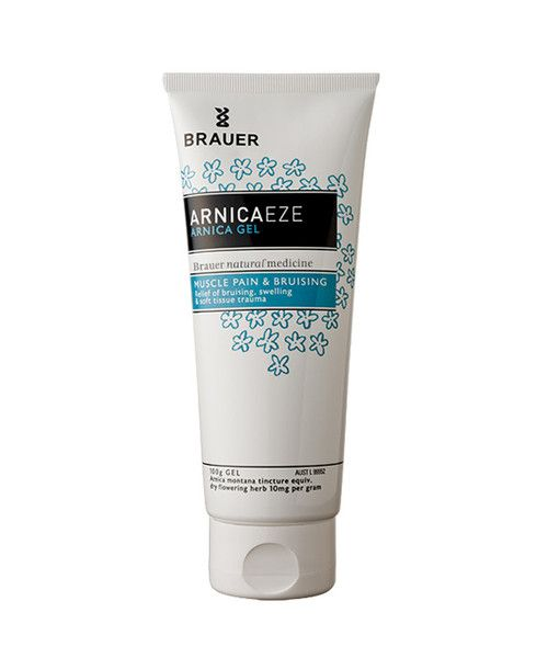Arnicaeze Arnica Gel 100g- Arnicaeze Arnica Gel for muscle pain and bruising contains Arnica tincture, which is traditionally used in homeopathic medicine to relieve the symptoms of bruising, soft tissue trauma and swelling resulting from training and sporting activities. Arnica is also used to help relieve muscular aches and pains. The gel is quickly absorbed into skin, is odourless and non-greasy, so it won't stain your clothes.