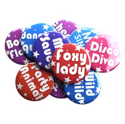 Set of 12 Hens Party Badges including a badge for the Bride To Be!    Get a set for the girls to add some fun for your Hens night or Girls Night Out!
