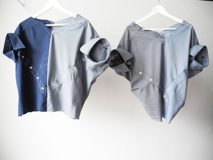VERY COOL // MILCH up-cycles second-hand men's and women's shirts into some very stylish designs. // #sustainable fashion
