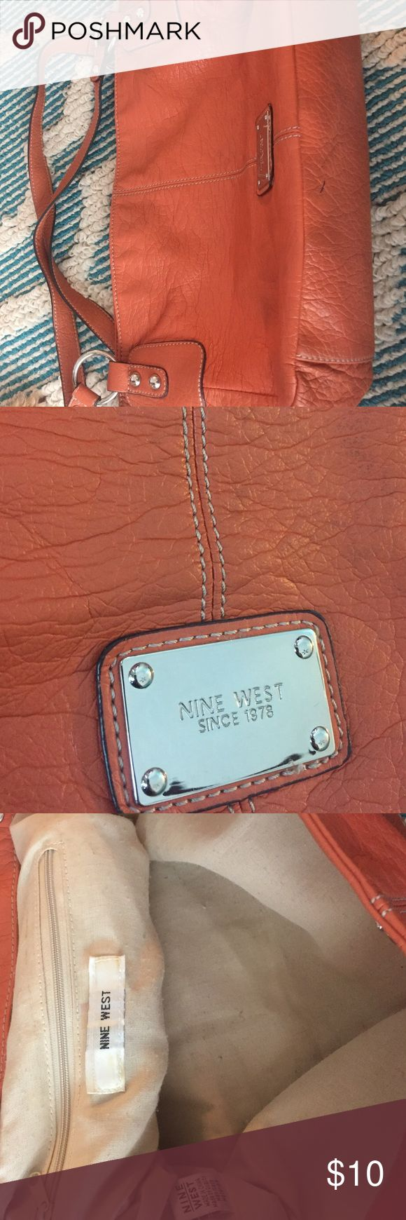 Orange Nine West purse Perfect for Summer or Fall! Nine West orange purse. Ink mark on the outside. Bags Shoulder Bags