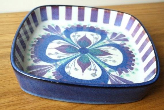 Mid-Century Faience Danish Bowl - Marianne Johnson for Royal Copenhagen. $42