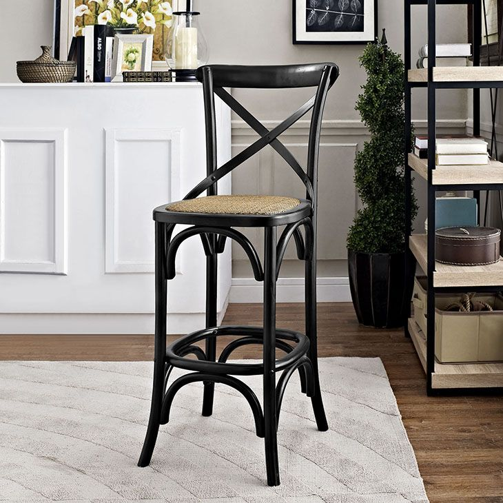 GEAR BAR STOOL IN BLACK Evoke Rustic Remembrances As You Sip A Leisurely  Tea Or Hearty