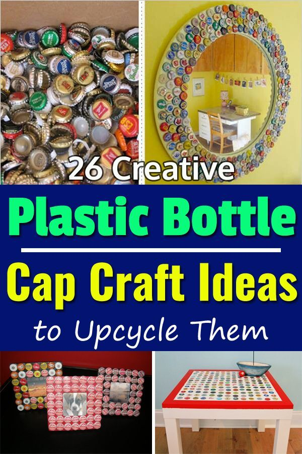 26 Creative Plastic Bottle Cap Craft Ideas To Upcycle Them