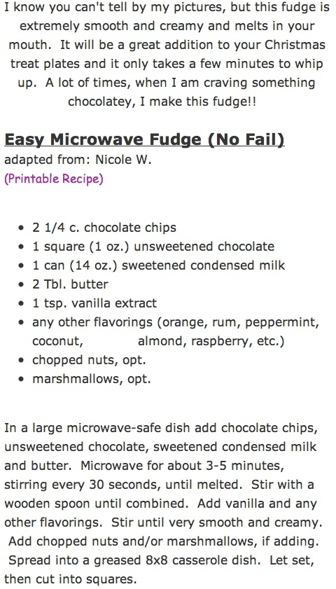 Easy Microwave Fudge (No Fail)