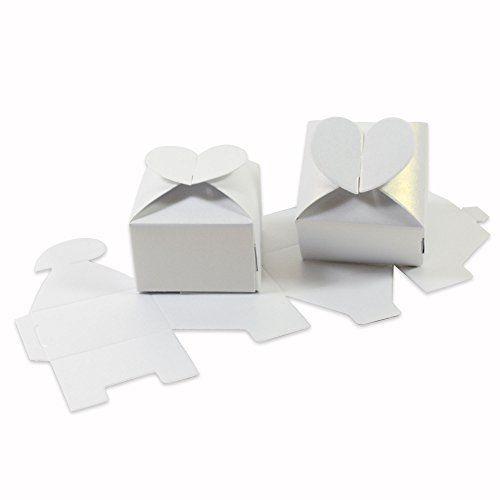 12 Pappschachteln - Herz - mit schimmernde Oberfläche 6 x 6 x 4 cm / Gastgeschenk Hochzeit / Schachtel Hochzeit / Geschenkbox / Bonbon Box / Pralinen Box, http://www.amazon.de/dp/B01CSAF6R6/ref=cm_sw_r_pi_s_awdl_ILFJxb4PYPNF9