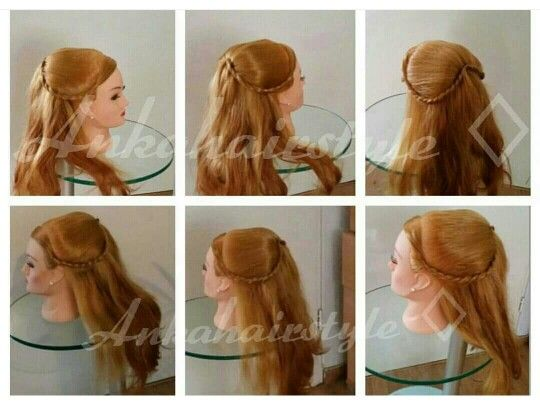 Half up door hairstyle Ankahairstyle