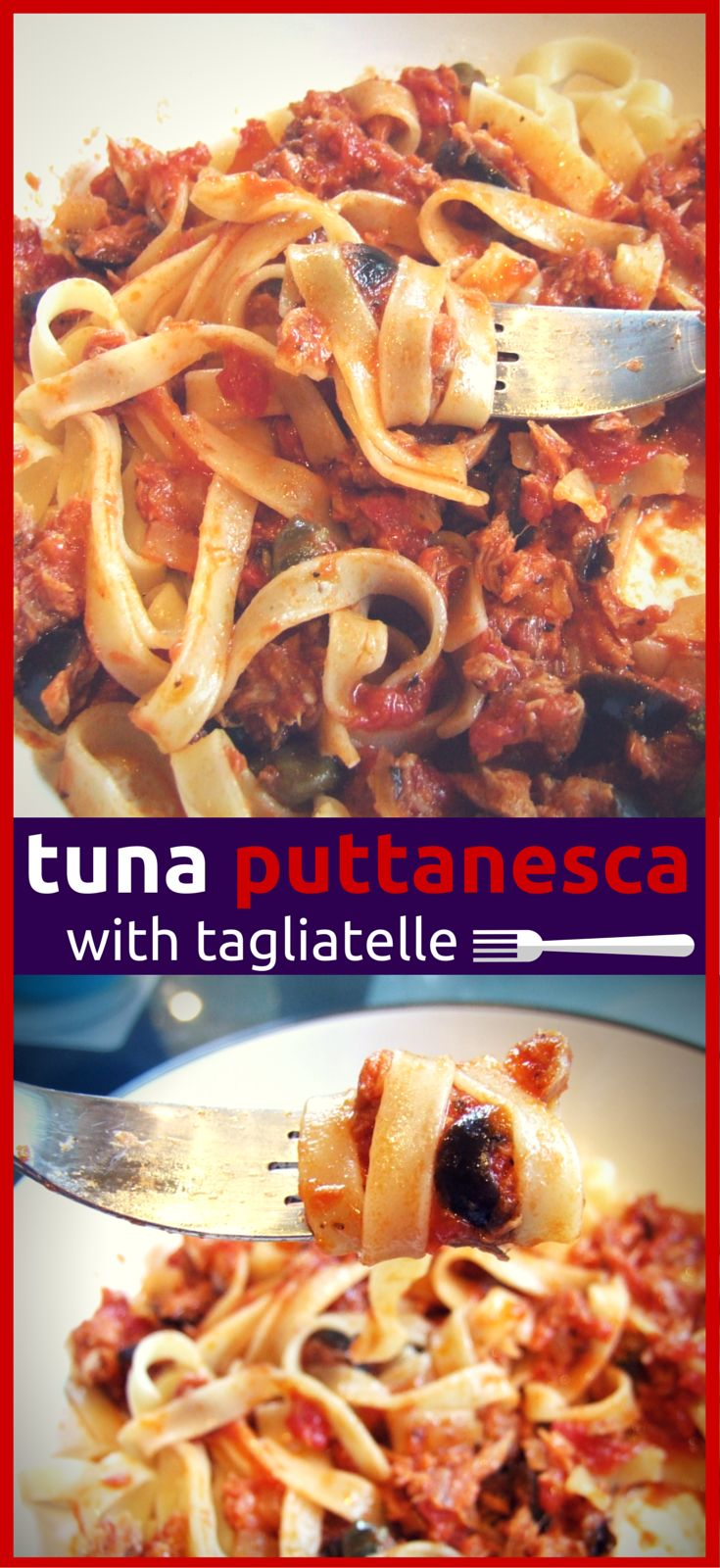 A rich, flavoursome tomato sauce with olives, capers & tuna. A tasty twist on traditional pasta puttanesca that will become a family favourite dinner!