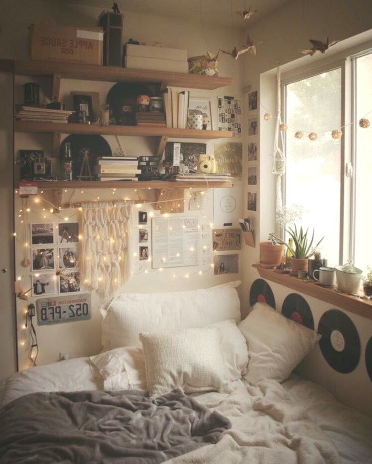 65 Cute Teenage Woman Bed Room Concepts That Will Blow Your Thoughts Roomdecoration Bedroom Interior Bedroom Makeover Aesthetic Bedroom