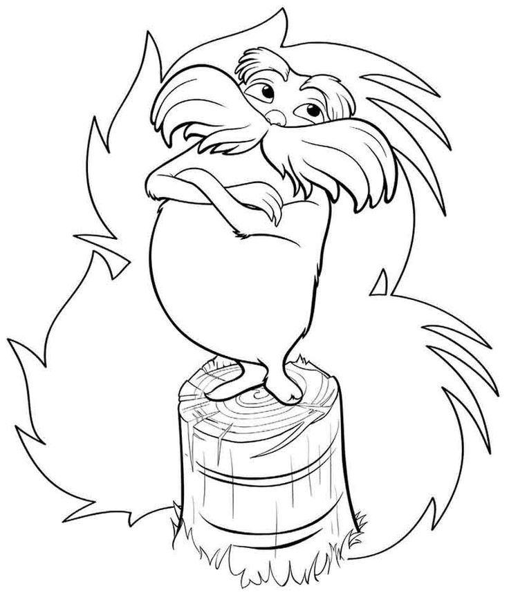 Lorax Coloring Pages | Coloring pages, The lorax