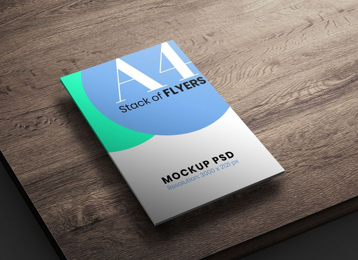 Free A4 Size Stack Of Flyers Mockup Psd Flyer Mockup Flyer Mockup Psd Flyer