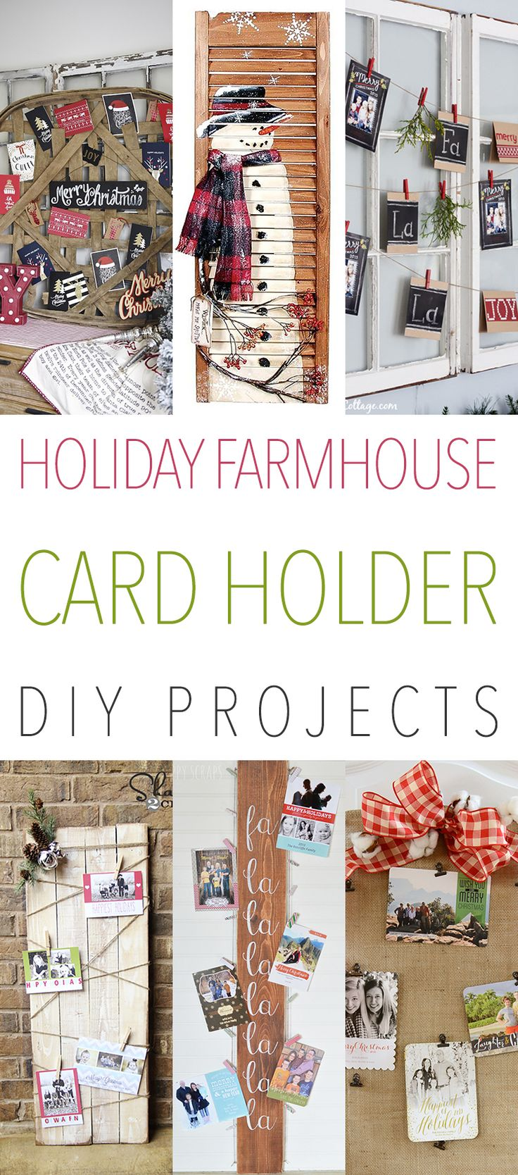 Holiday farmhouse card holder diy projects you will be for Christmas card holder craft project
