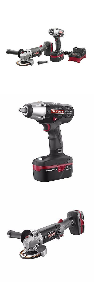 tools: Craftsman C3 Lithium-Ion 1/2 Impact Wrench Angle Grinder Kit - New! -> BUY IT NOW ONLY: $127.99 on eBay!
