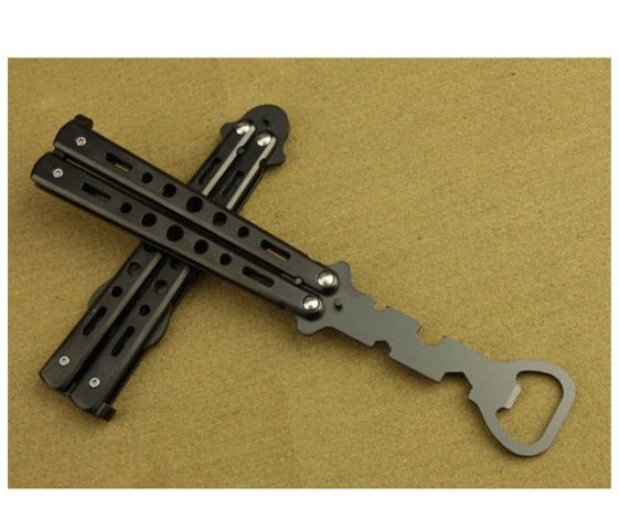 butterfly knife styled bottle opener for only purchase your own bottle opener now. Black Bedroom Furniture Sets. Home Design Ideas