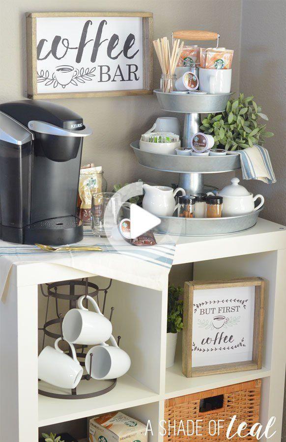 So Richten Sie Eine Dreistufige Kaffeebar Sowie Kostenlose Ausdrucke Ein En 2020 Bar A Cafe Decorations De Bar Coin Cafe Cuisine
