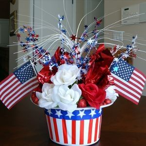 Patriotic Hat Centerpiece by marcy