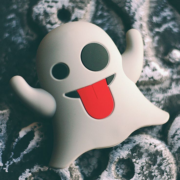 Ghost Emoji Portable Charger