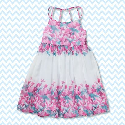Pumpkin Patch Chiffon Border Dress - available in sizes 5 to 12 years http://www.pumpkinpatchkids.com/