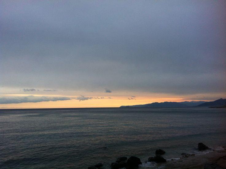 Tramonto sul #mare #liguria