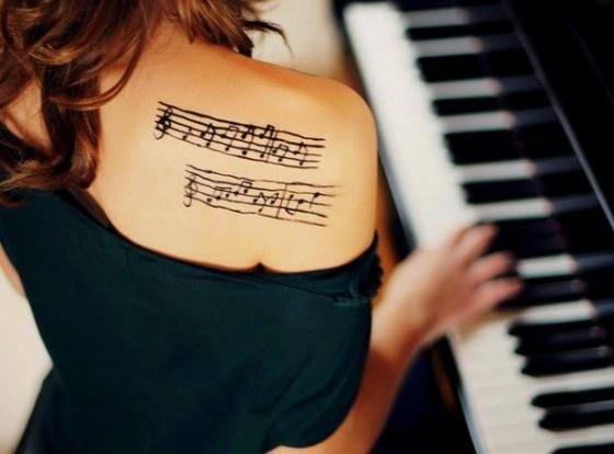 Musical Staff tattoo